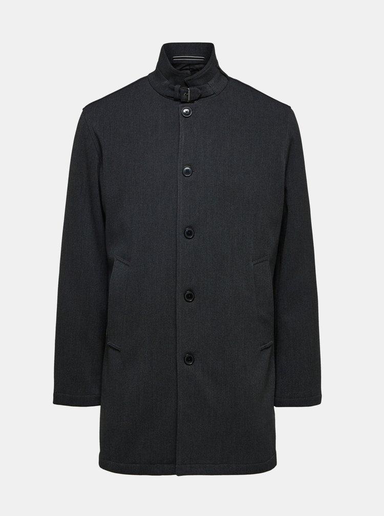 Tmavošedý kabát Selected Homme