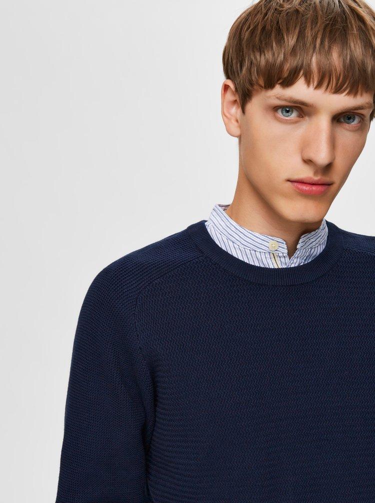 Tmavomodrý pánsky sveter Selected Homme