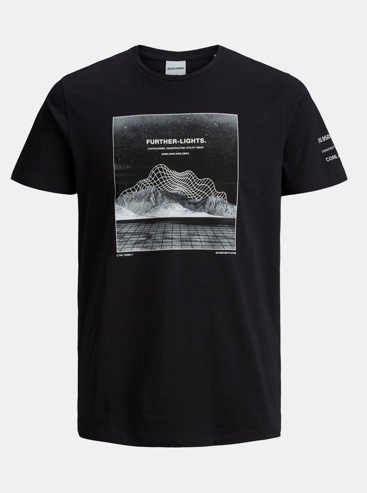 Černé tričko s potiskem Jack & Jones