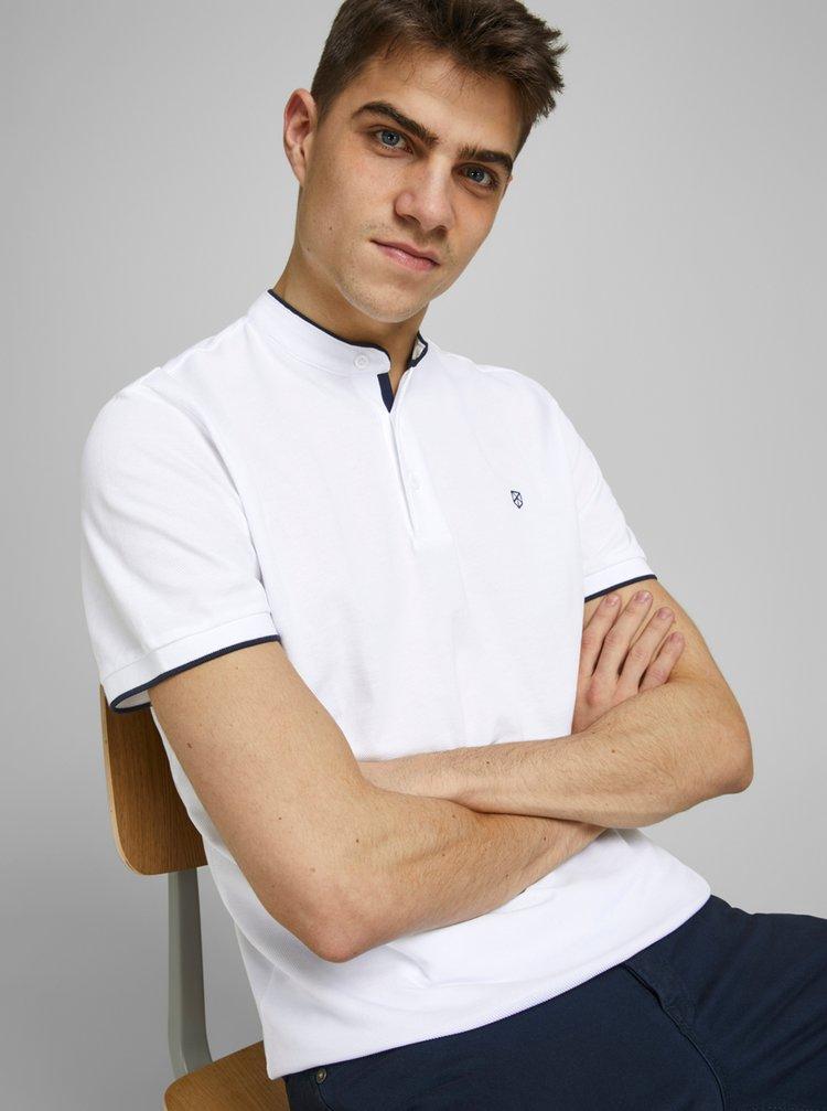 Bílé polo tričko se stojáčkem Jack & Jones
