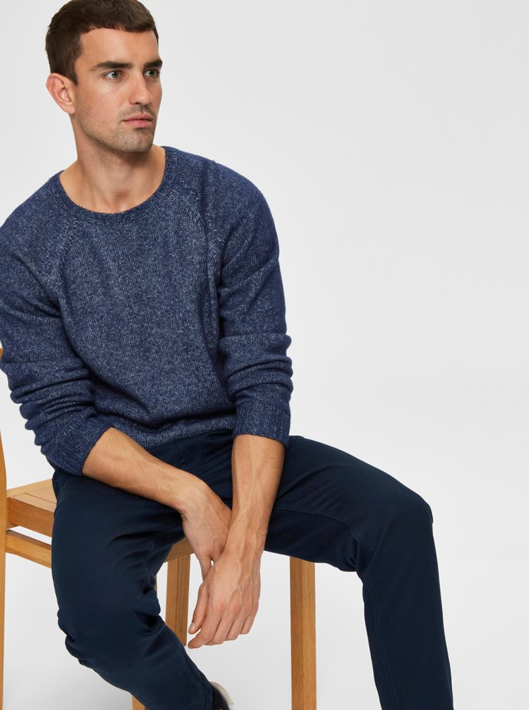 Modrý svetr Selected Homme