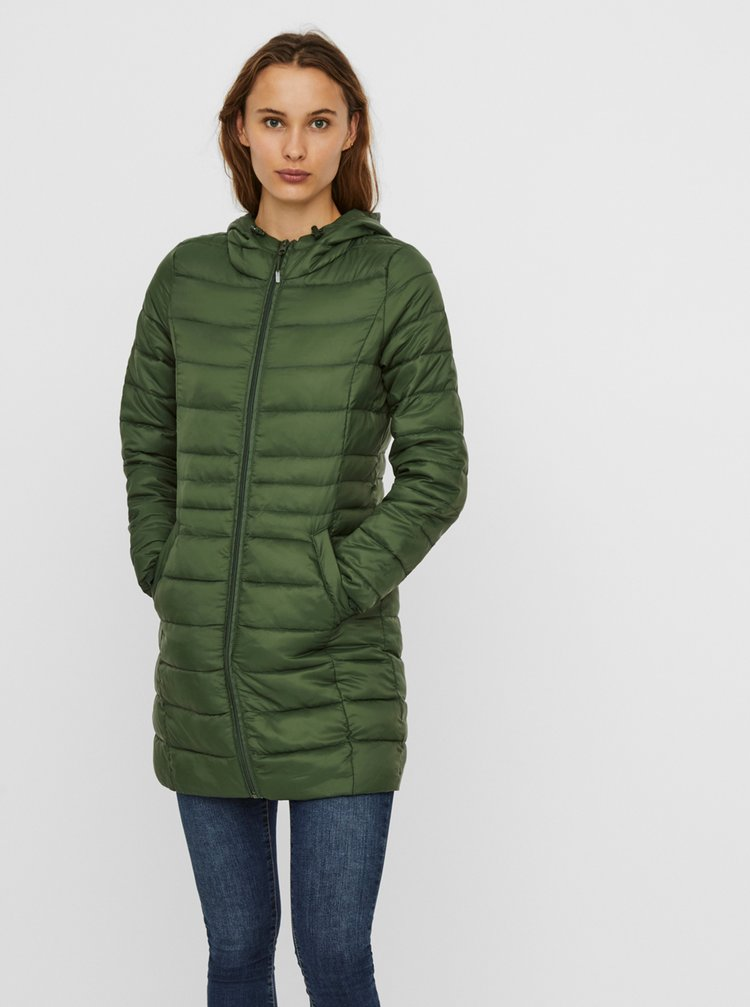Zelený prošívaný kabát VERO MODA Mikkola