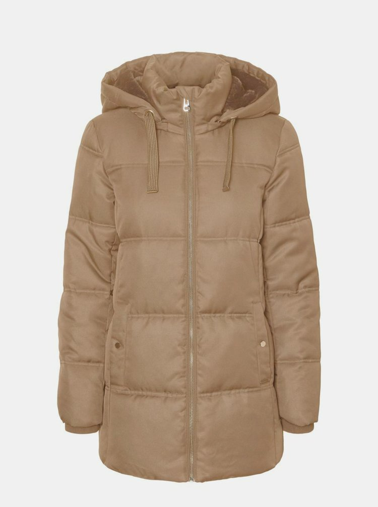 Béžová zimná prešívaná bunda VERO MODA Neat