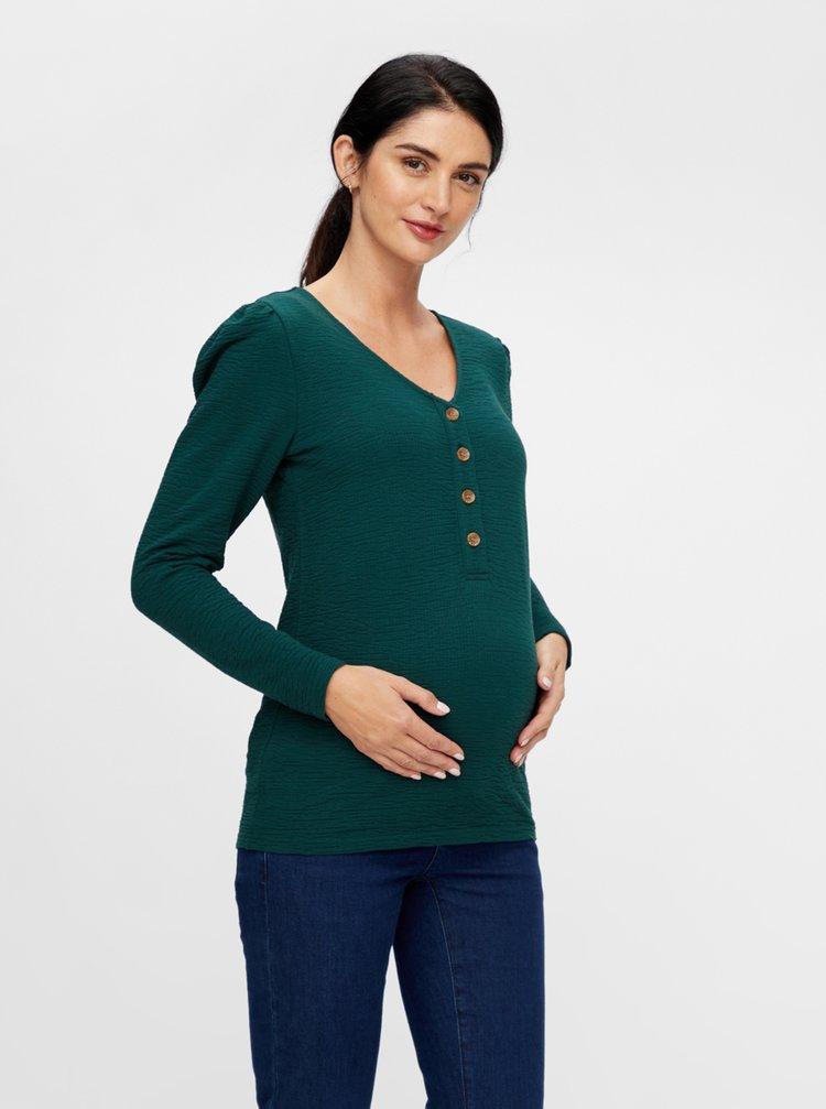 Zelené těhotenské/kojicí tričko Mama.licious