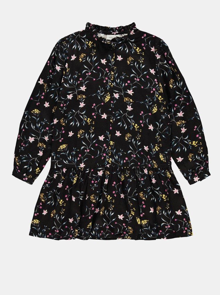 Černé holčičí květované šaty name it