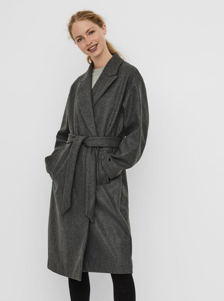 Šedý kabát VERO MODA Fortune