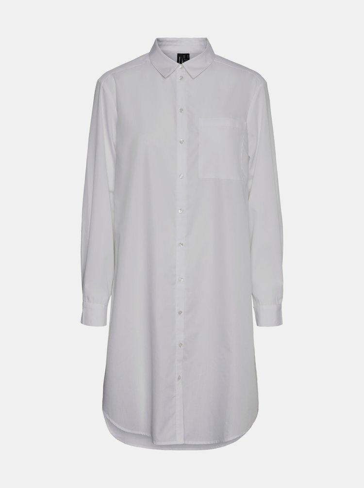 Bílá dlouhá košile VERO MODA Hella