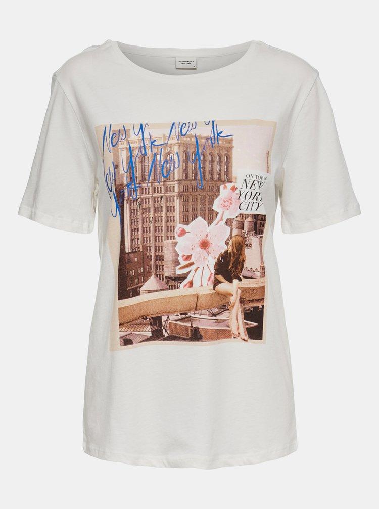 Biele tričko s potlačou Jacqueline de Yong