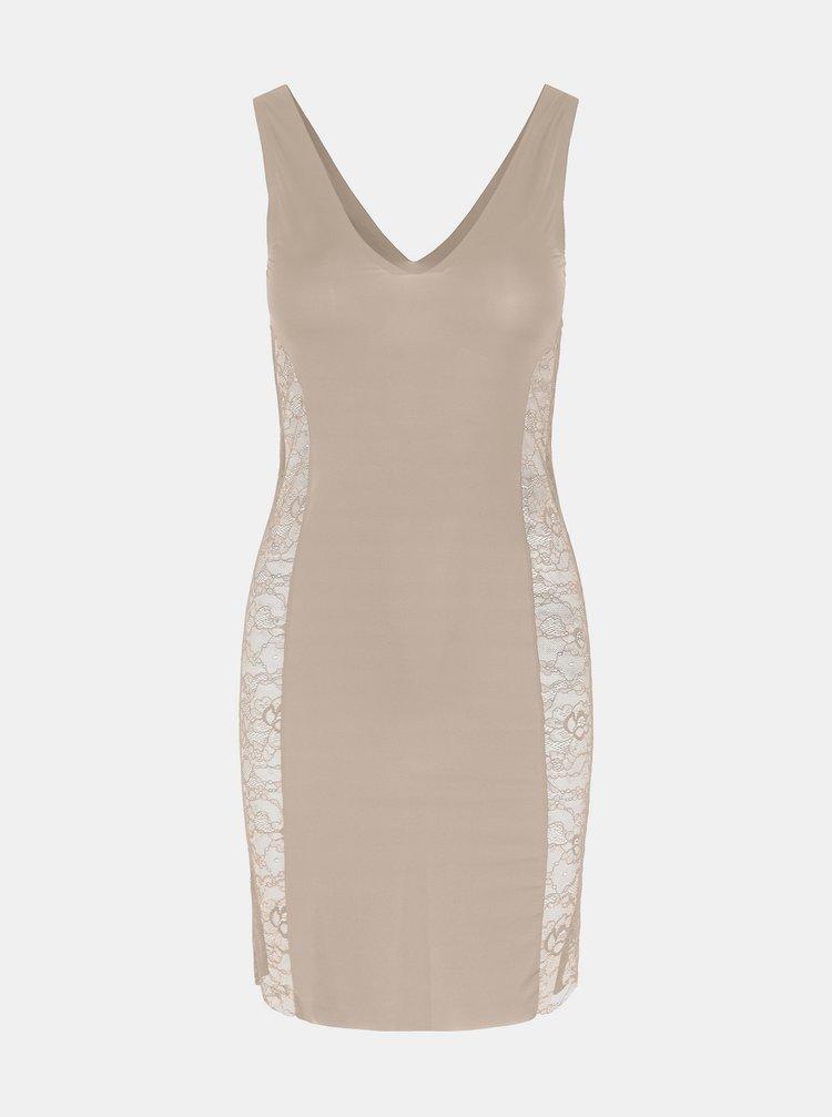 Krémové tvarující šaty Pieces Ella