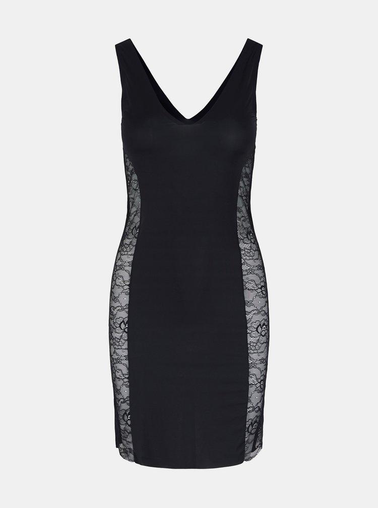 Černé tvarující šaty Pieces Ella