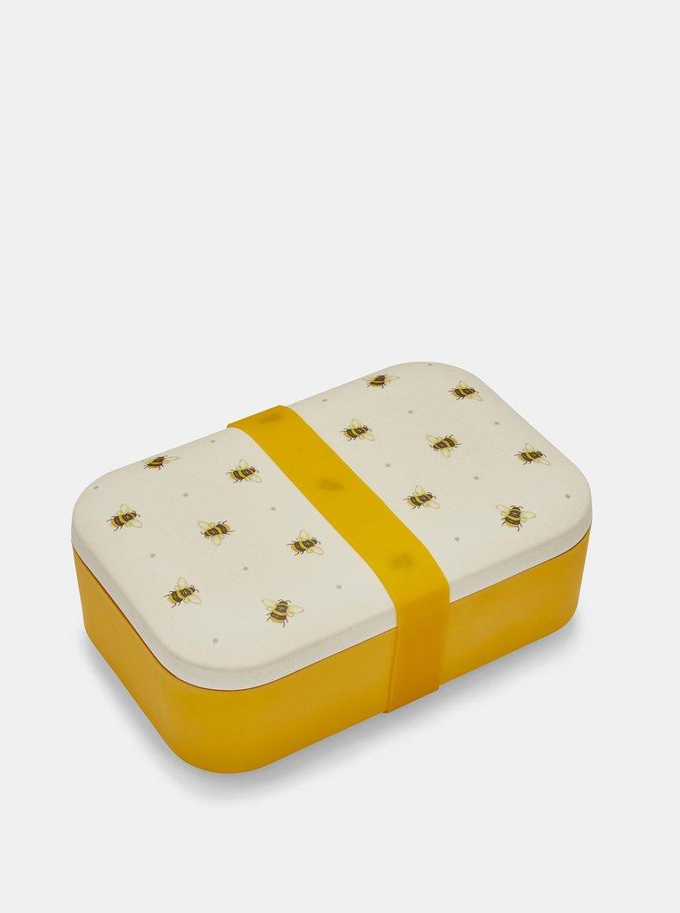 Žluto-krémová bambusová krabička na svačinu Cooksmart
