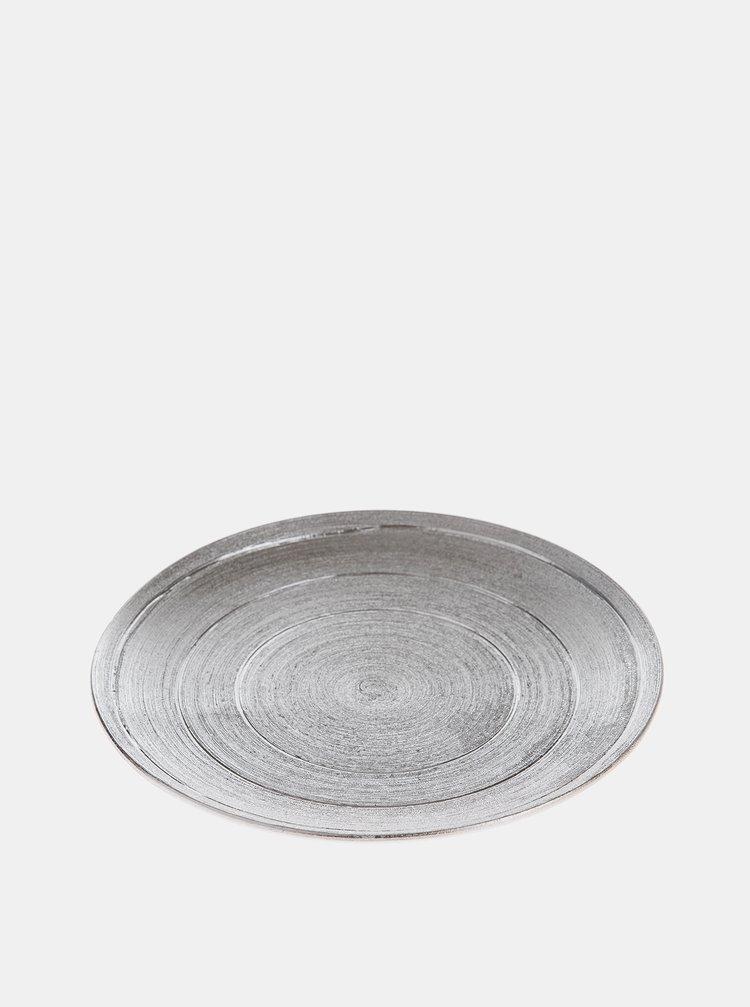 Keramická tácka v striebornej farbe Dakls