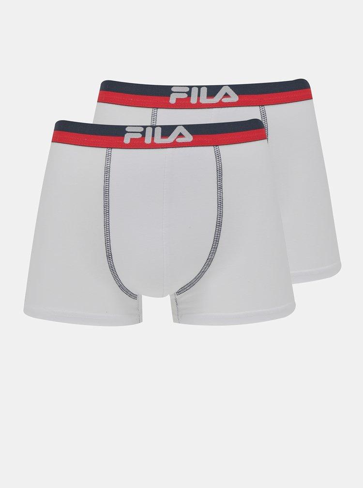 Sada dvoch bielych boxeriek FILA
