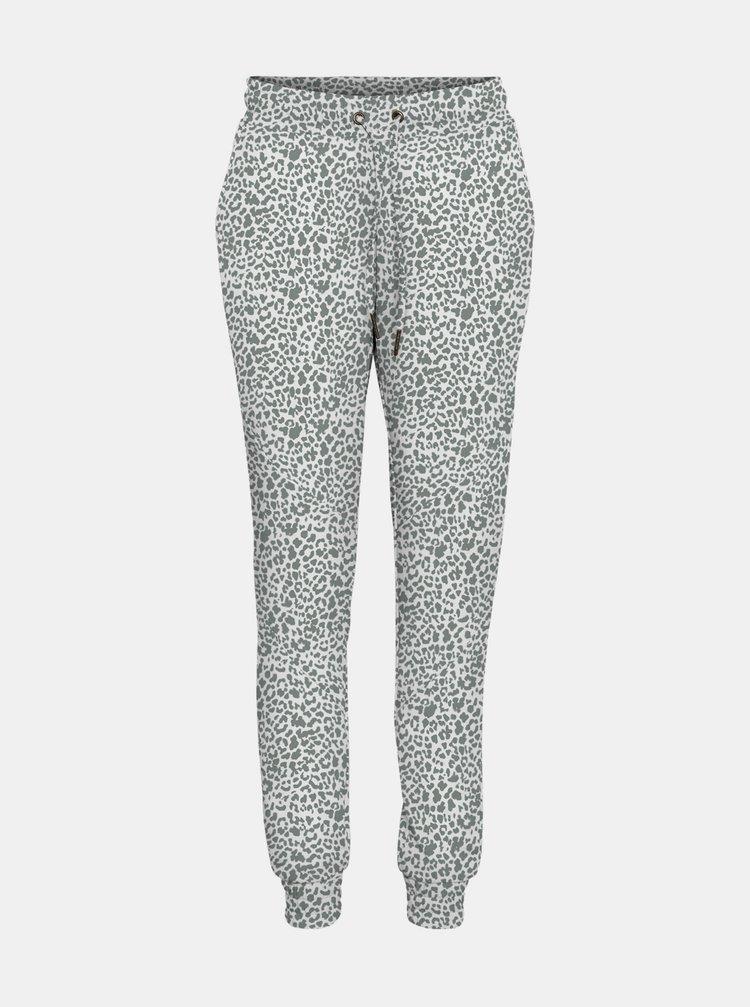 Šedo-biele tepláky s leopardím vzorom Noisy May Rainy