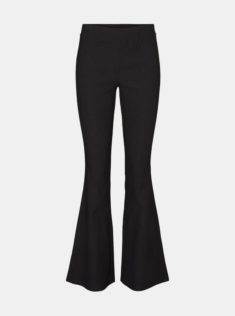 Černé flared fit kalhoty Noisy May Billie