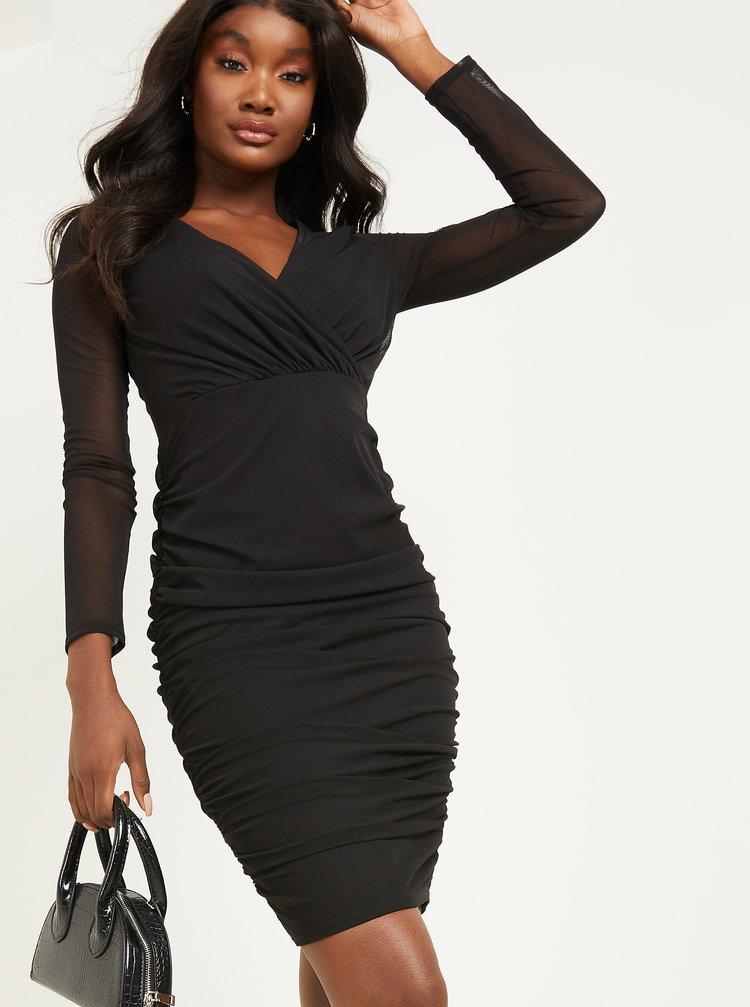 Čierne púzdrové šaty QUIZ