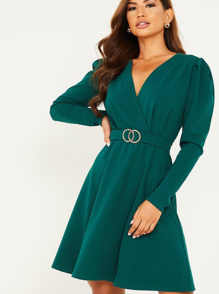 Zelené šaty s páskem QUIZ