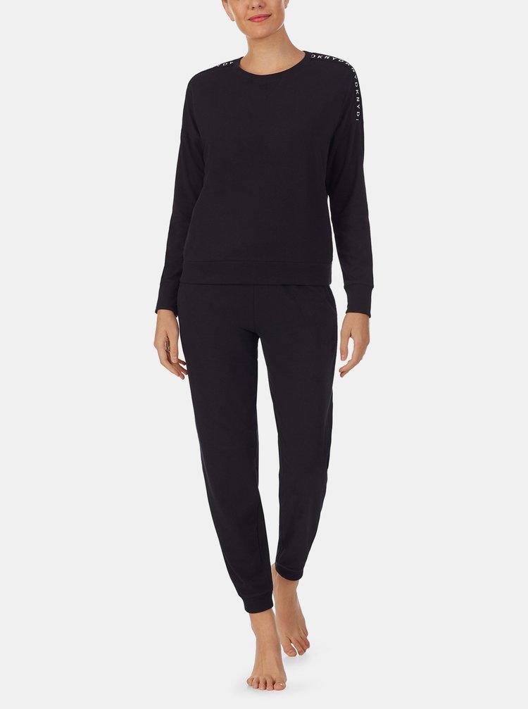 Černé pyžamo DKNY