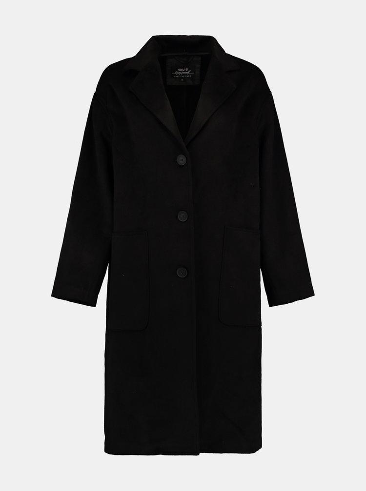 Černý lehký oversize kabát Hailys