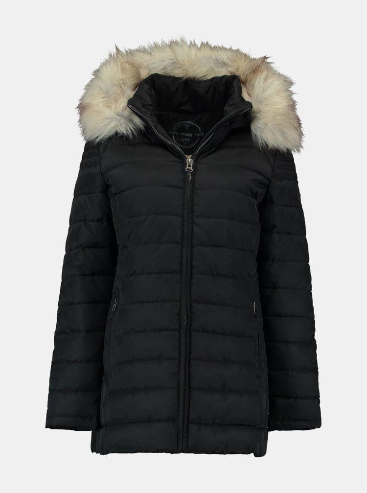 Čierna zimná prešívaná bunda Hailys
