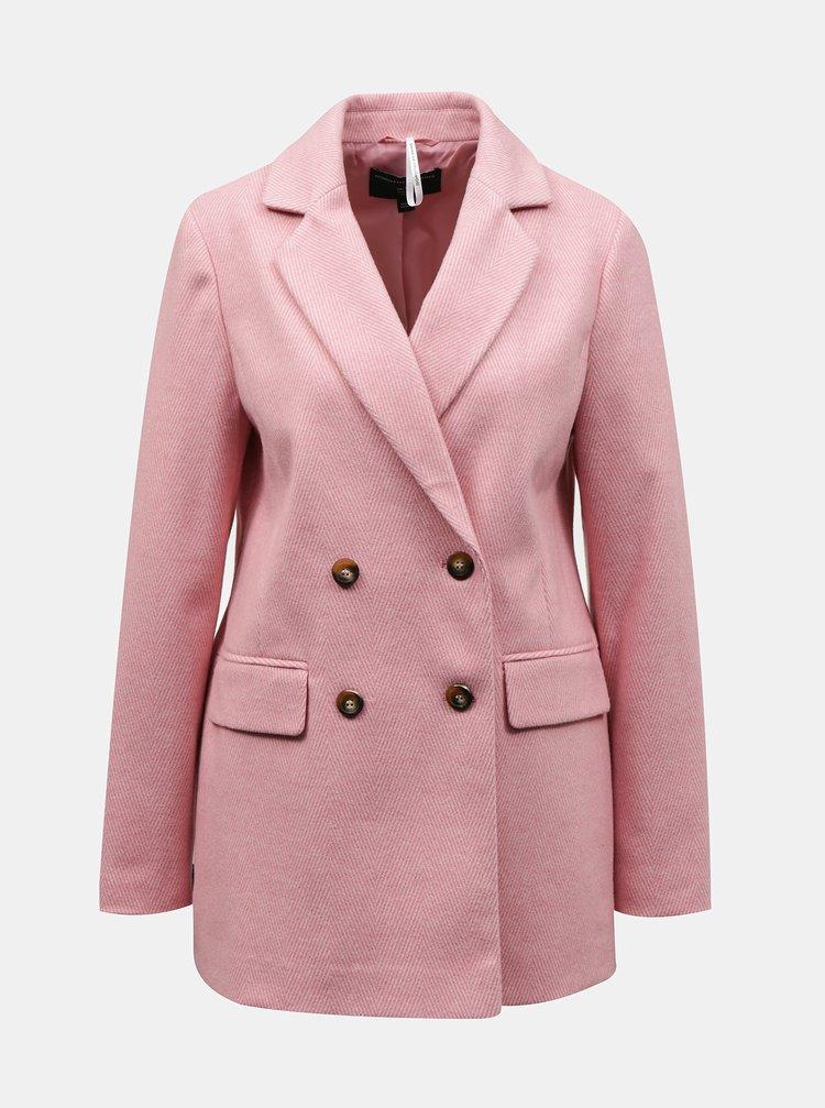Růžový dámský kabát Dorothy Perkins