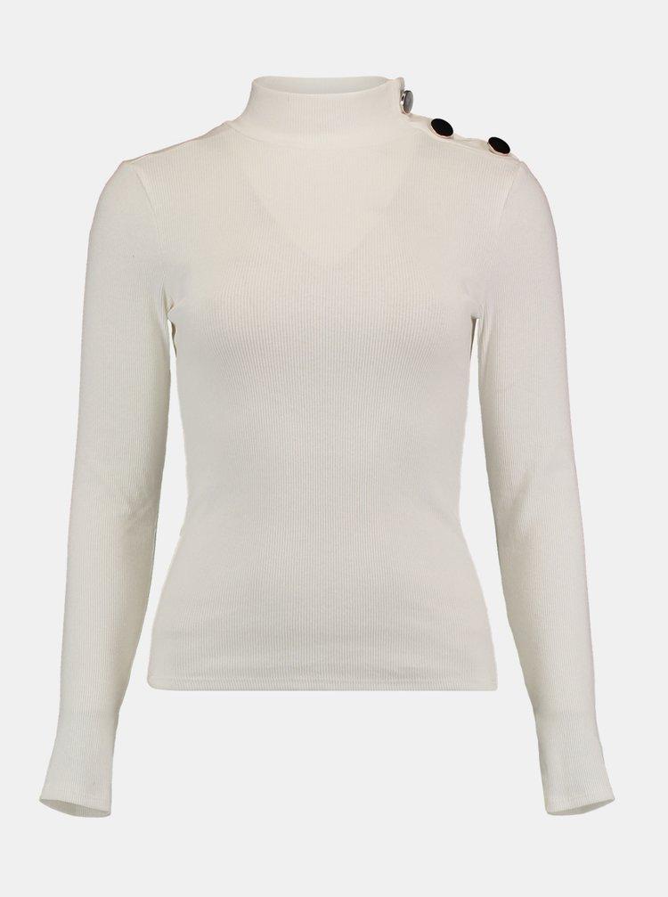 Bílý svetr se stojáčkem Hailys