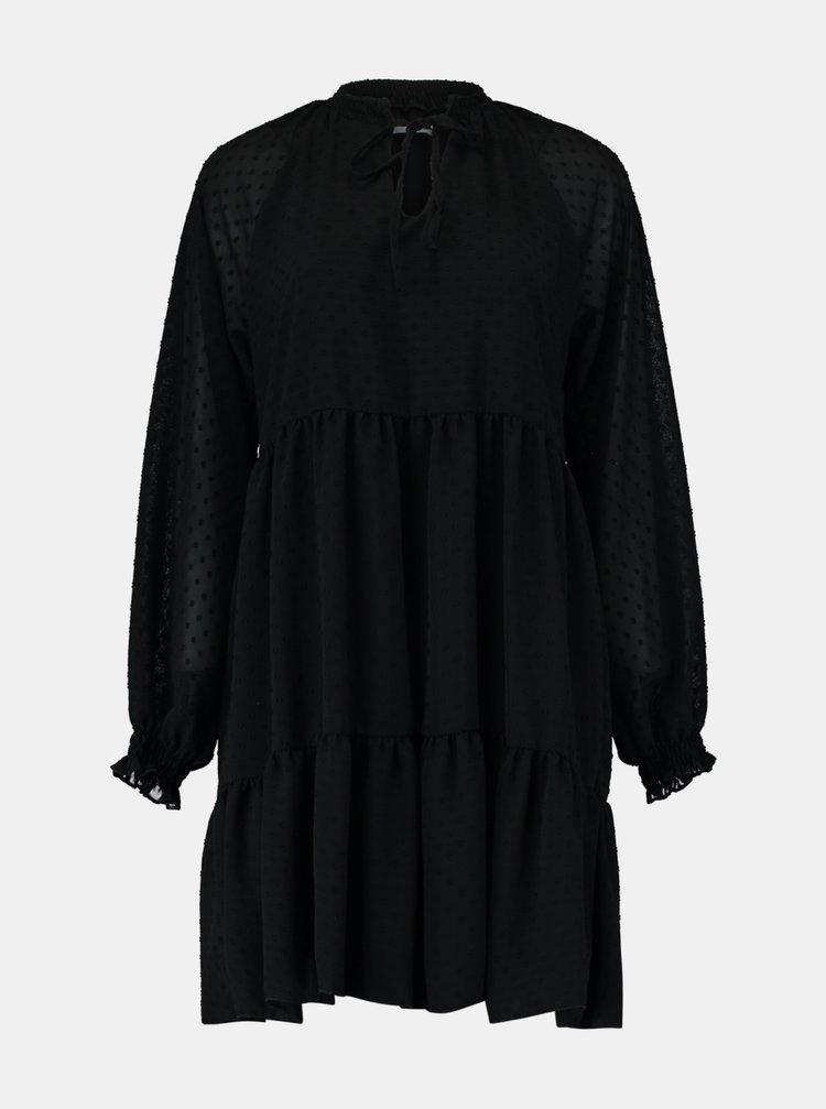 Černé volné šaty Hailys