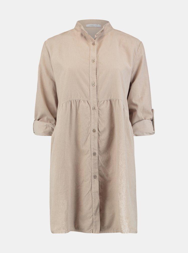 Béžové košilové šaty Hailys
