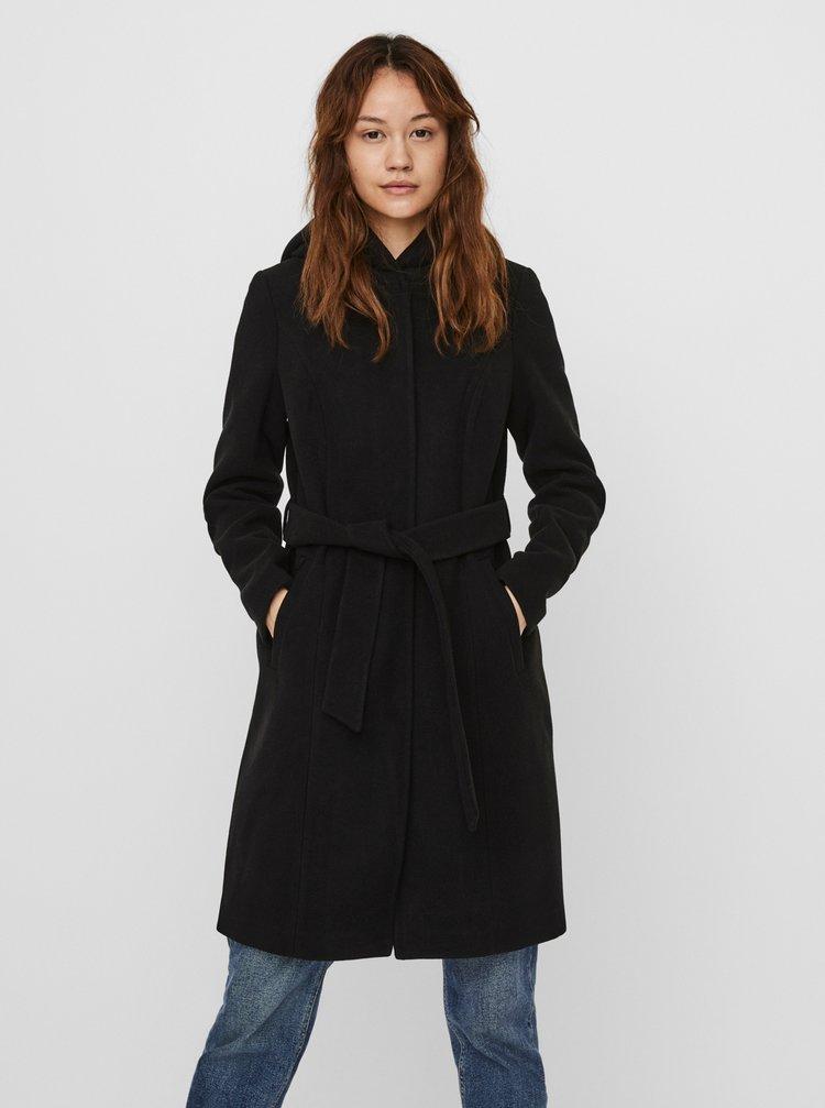 Čierny kabát s kapucou VERO MODA
