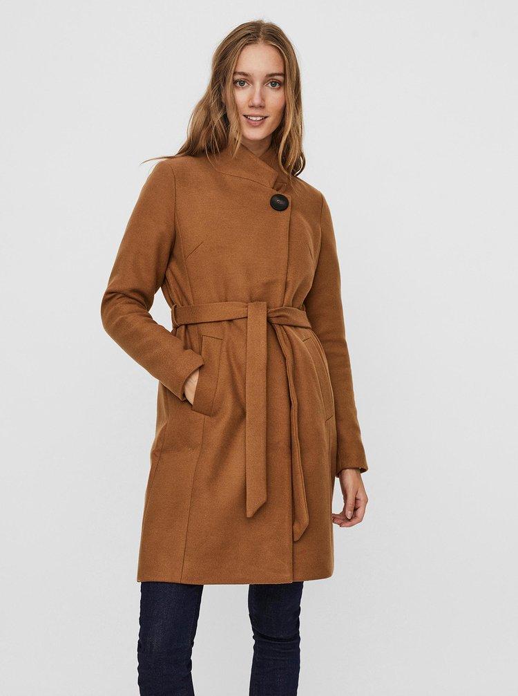 Hnědý kabát VERO MODA