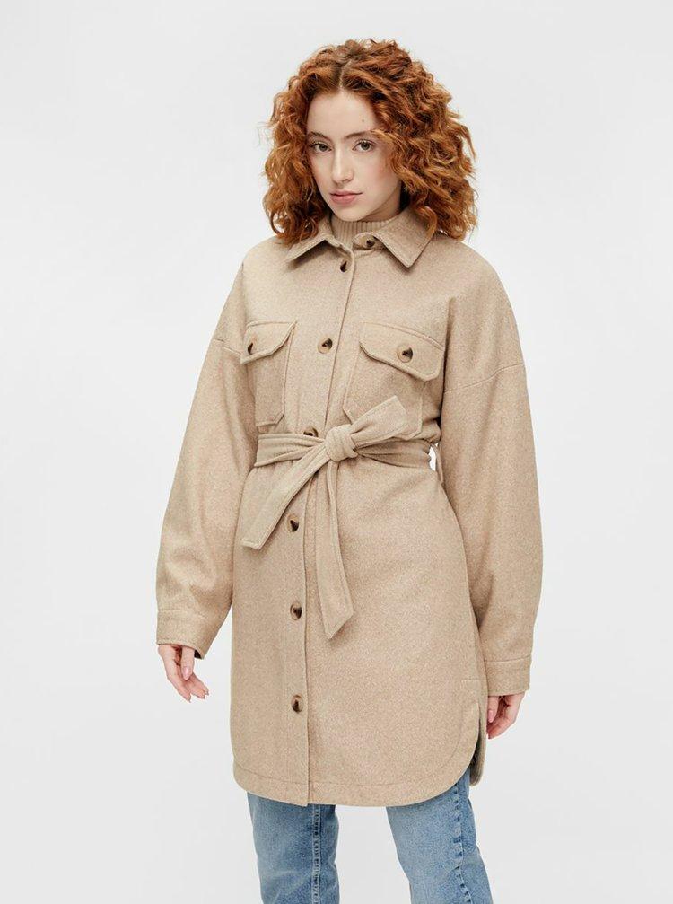 Béžový lehký kabát Pieces