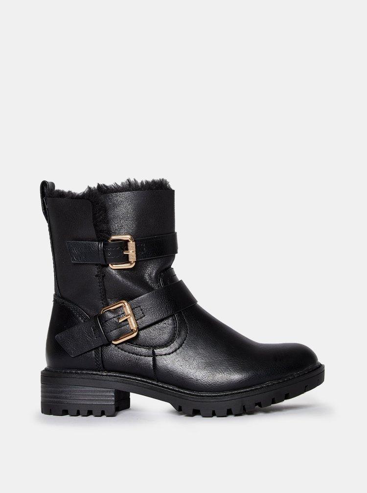 Černé zimní kotníkové boty Dorothy Perkins