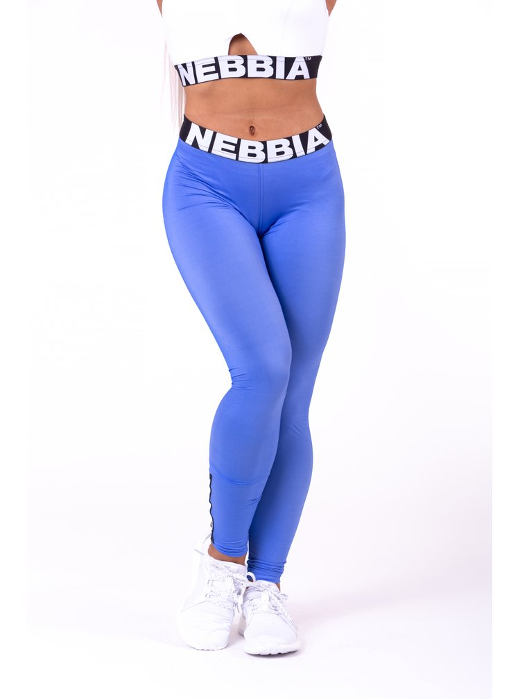 Modré dámské sportovní legíny NEBBIA Scrunch butt