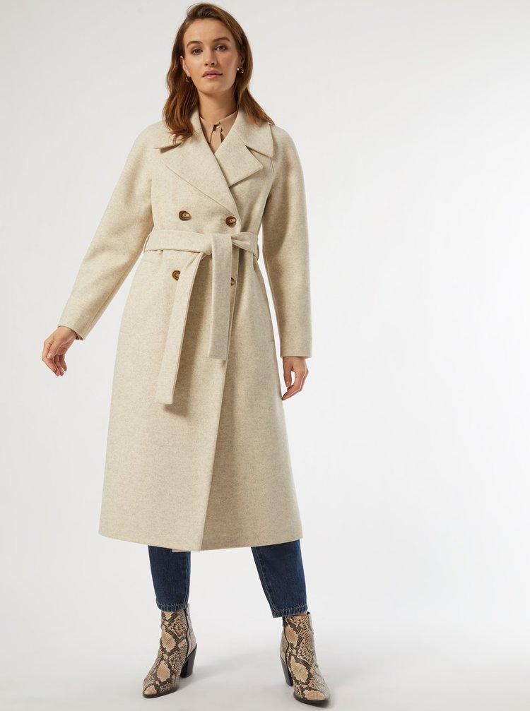 Kabáty pre ženy Dorothy Perkins - béžová