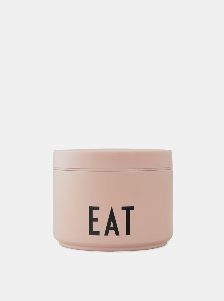 Růžová termo krabička na jídlo Design Letters 330 ml