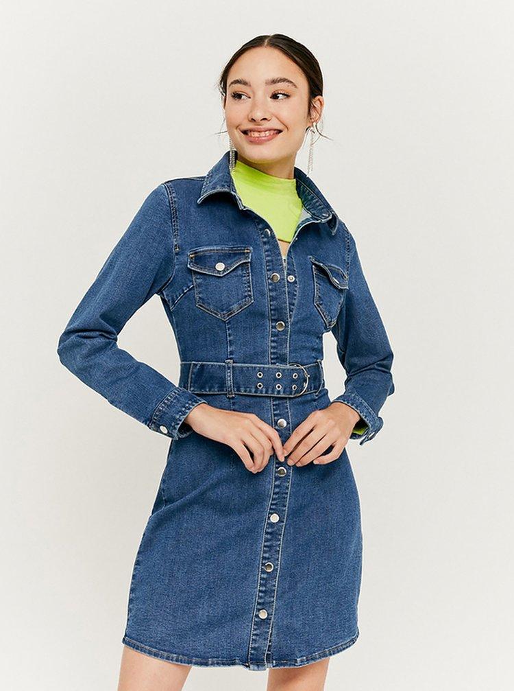 Modré džínové košilové šaty TALLY WEiJL