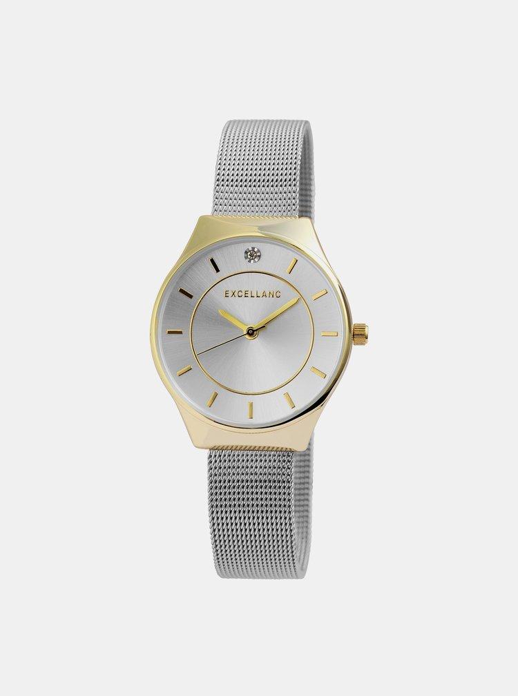Dámské hodinky s nerezovým páskem ve stříbrné barvě Excellanc