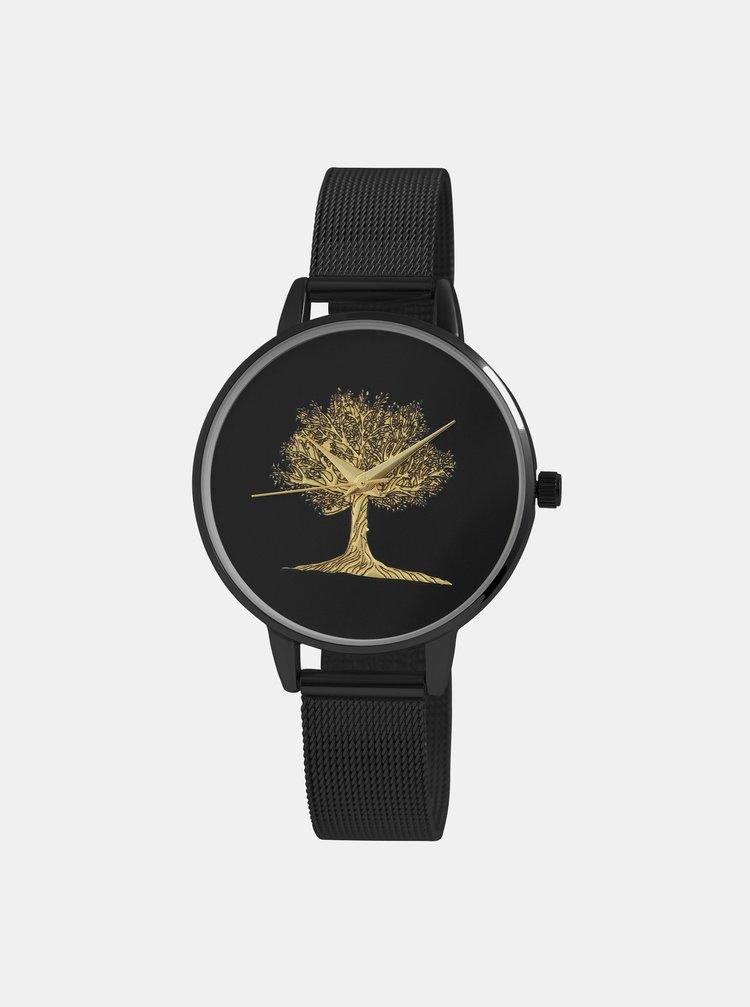 Dámské hodinky s nerezovým páskem v černé barvě Excellanc