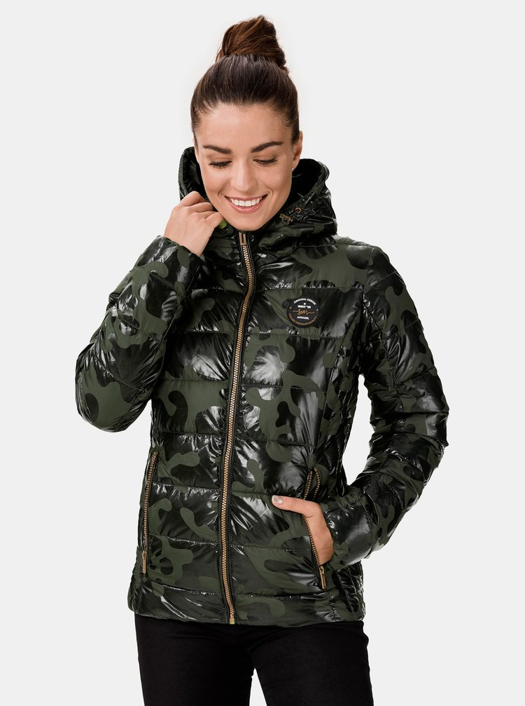 Khaki dámská prošívaná bunda SAM 73