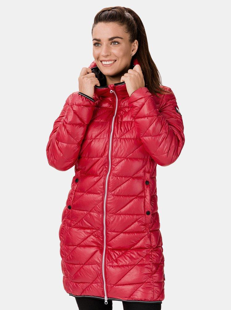 Červený dámský prošívaný kabát SAM 73