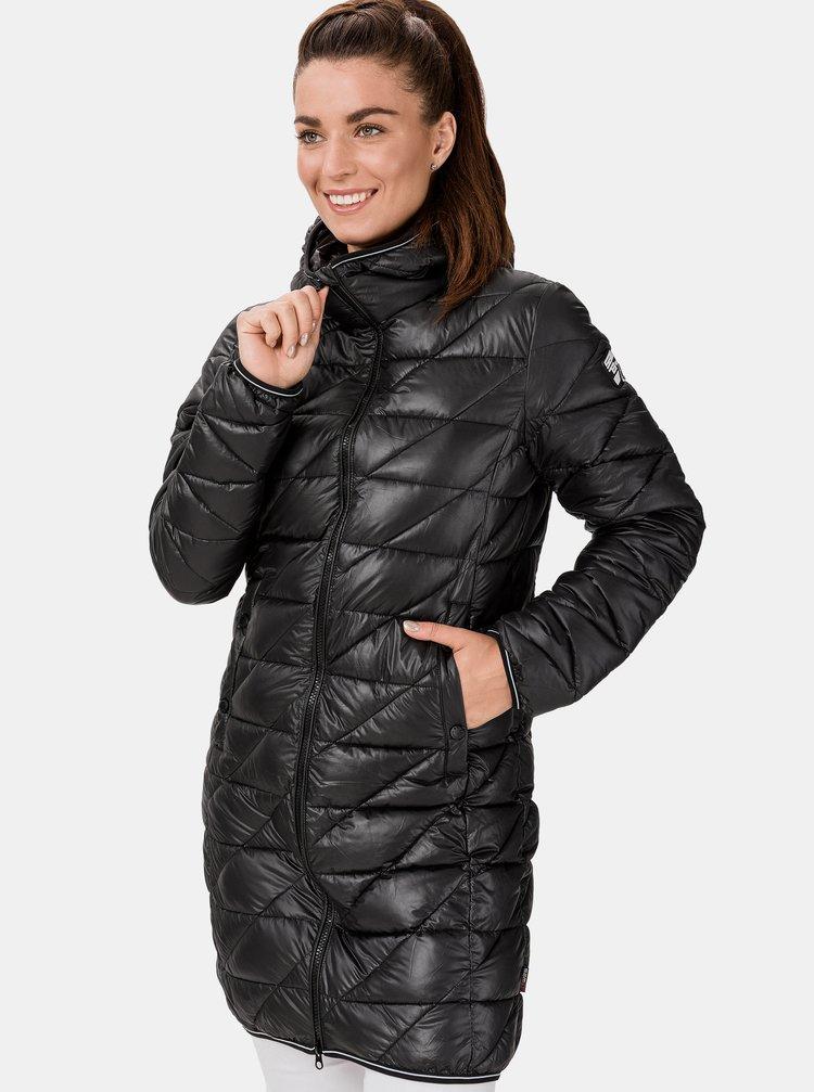 Černý dámský prošívaný kabát SAM 73