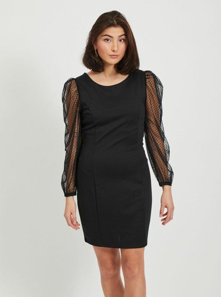 Čierne púzdrové šaty VILA