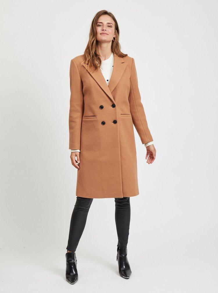Hnědý kabát s příměsí vlny .OBJECT