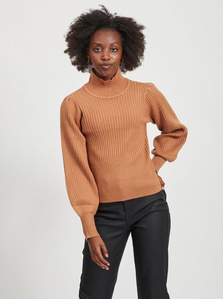 Hnedý sveter so stojáčikom .OBJECT