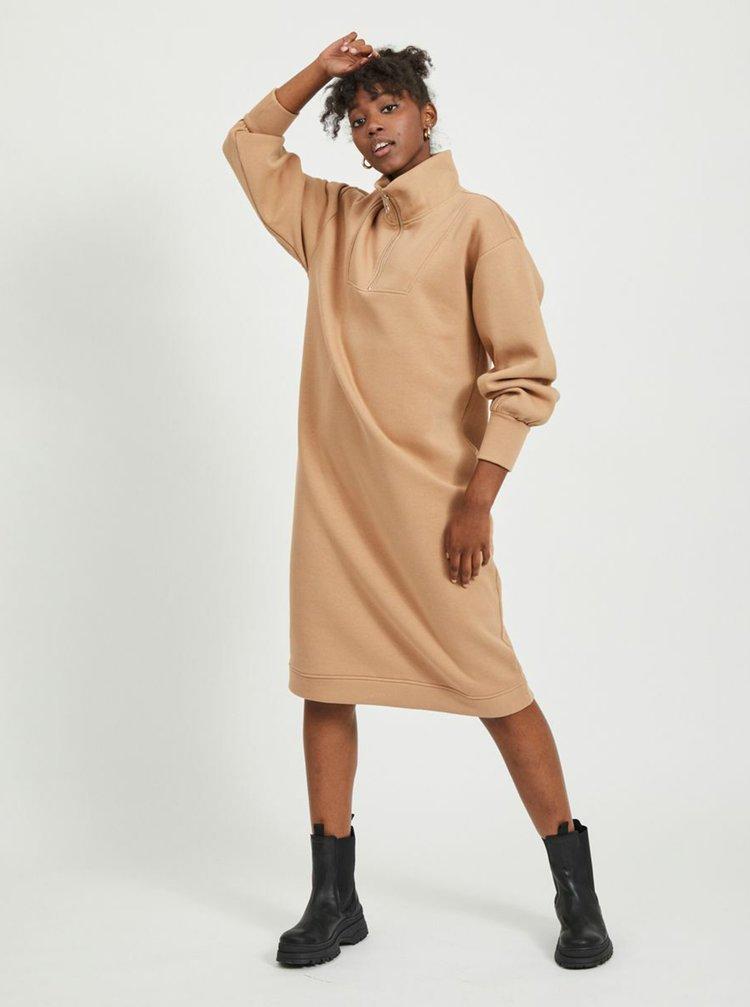 Béžové mikinové šaty .OBJECT