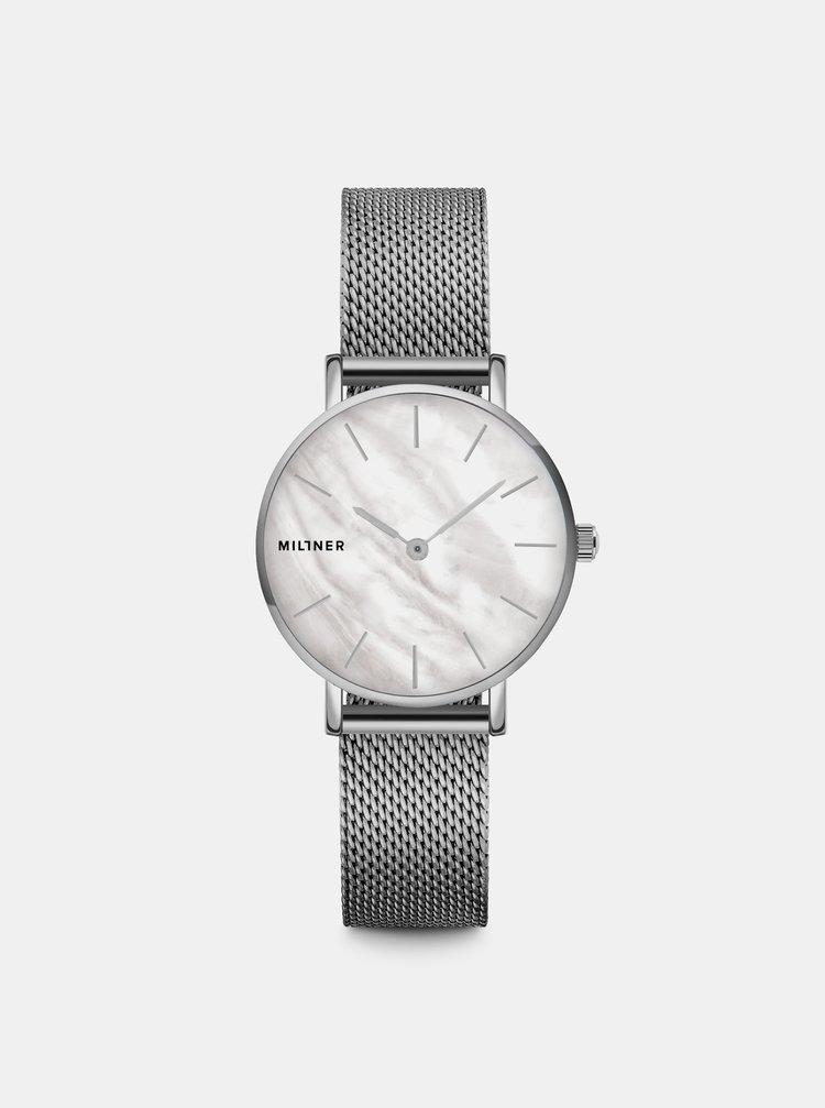 Dámské hodinky s nerezovým páskem ve stříbrné barvě Millner Mini