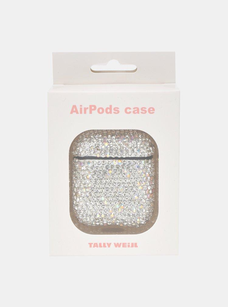 Obal ve stříbrné barvě na AirPods sluchátka TALLY WEiJL