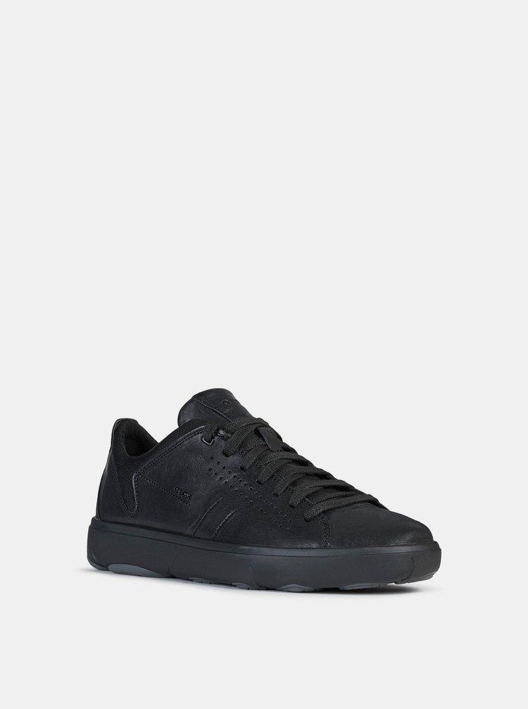 Čierne pánske kožené tenisky Geox