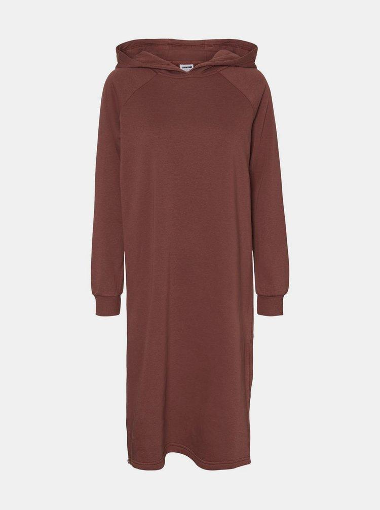 Hnědé mikinové šaty Noisy May Helene