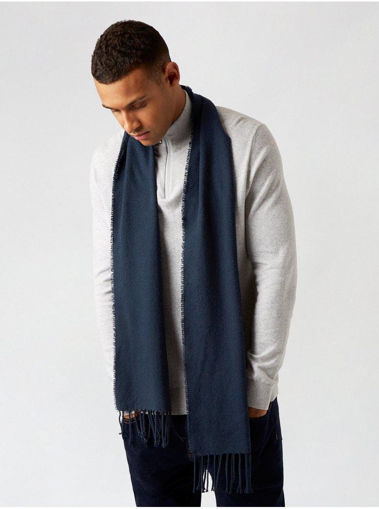 Tmavě modrá šála Burton Menswear London